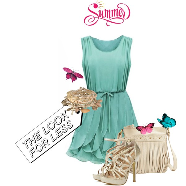 Green Dress Outfit Idea for Summer
