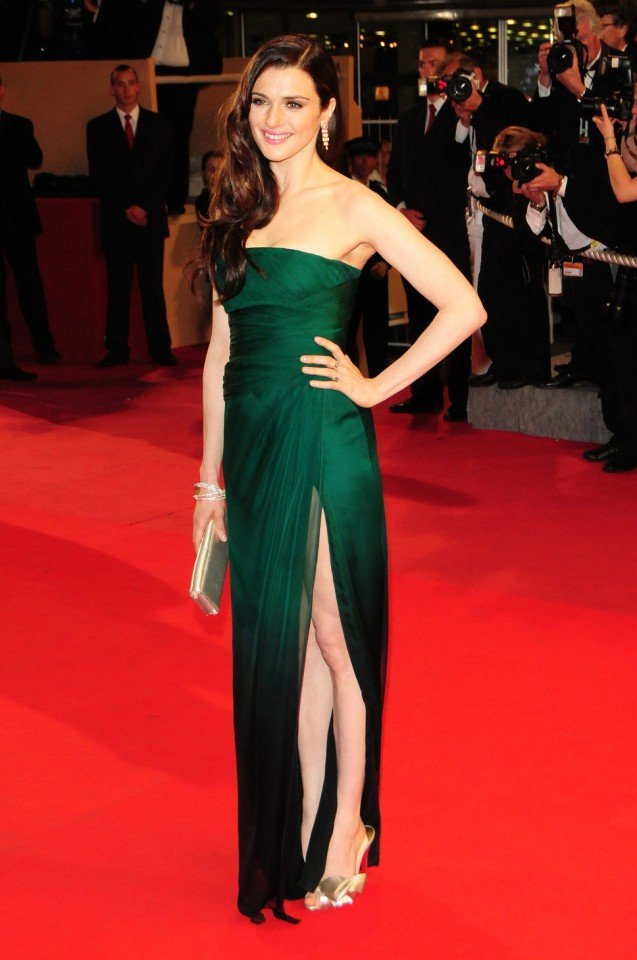 Green High Slit Dress