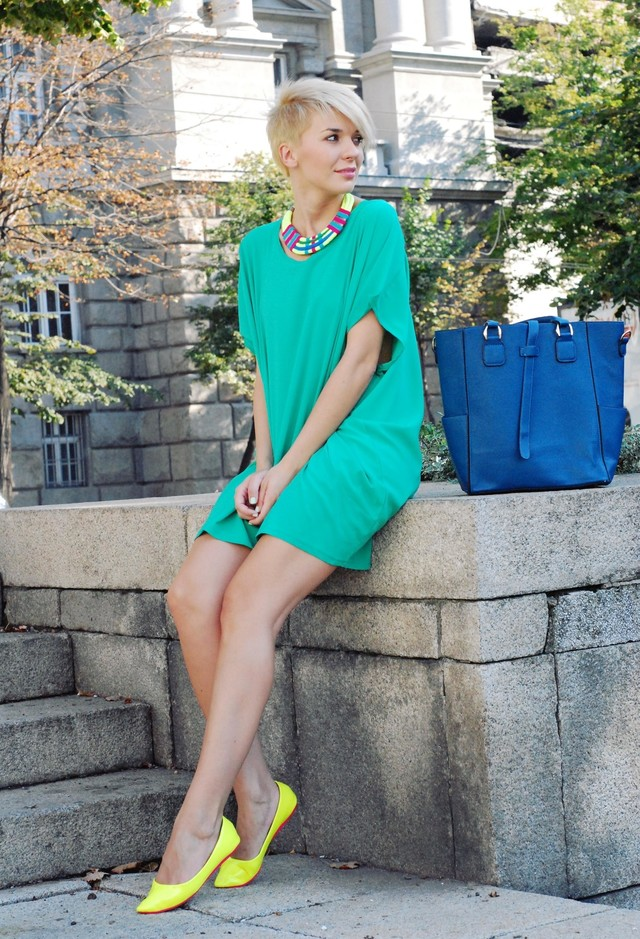 Green Short Dresses for Spring 2014