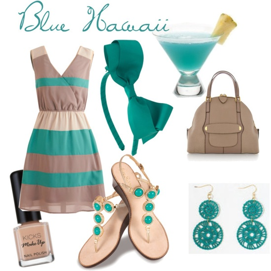 Green and Coffee Dress Outfit Idea for Summer