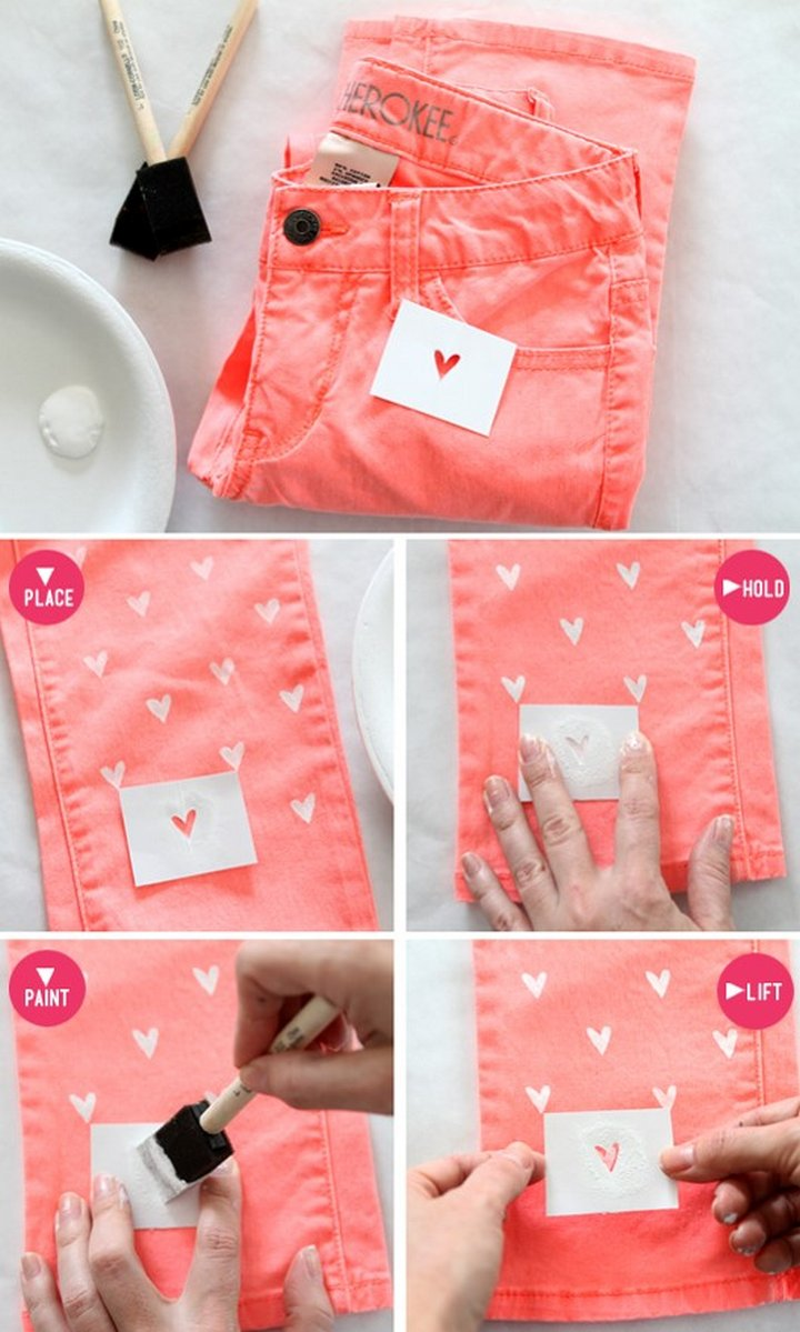 Heart Shape Jeans
