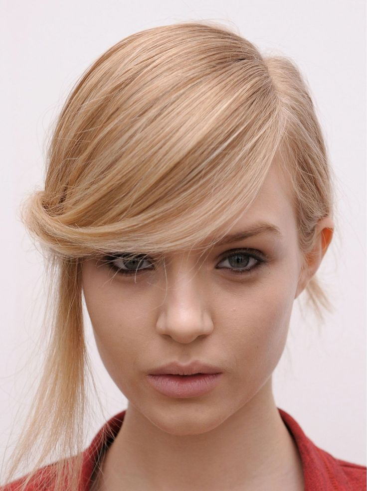 Interesting Side-swept Hairstyle with Fringe
