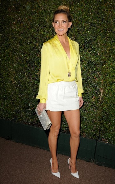 Kate Hudson's White Mini Skirt