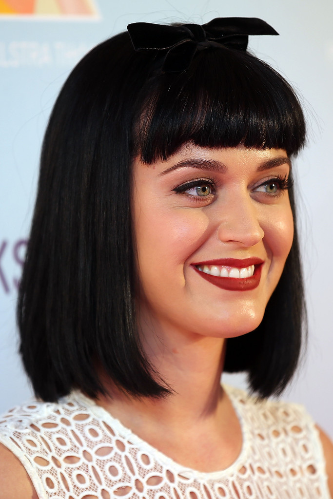 Katy Perry Bob with Blunt Bangs