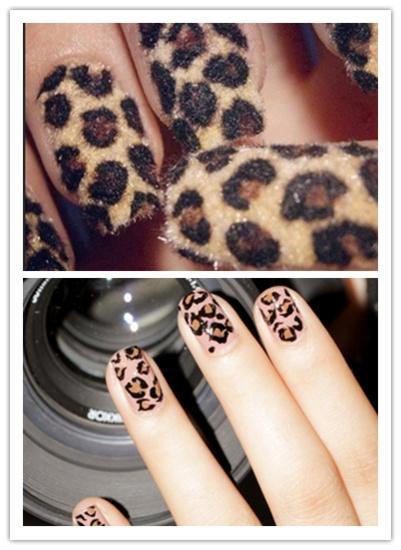 Leopard Velvet Nails