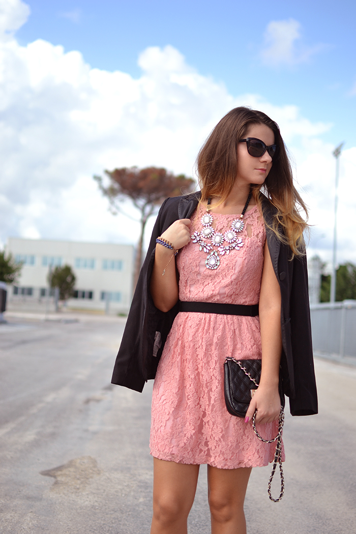 Little Pink Lace Dress