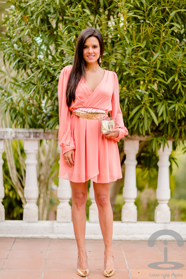 Little Pink Wrap Dress