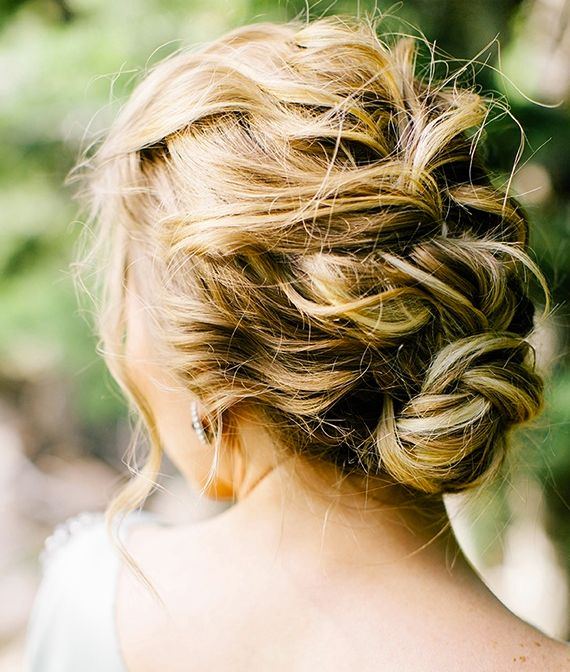 Loose Braided Updo Hairstyle for Holidays