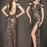 Mac Duggal Sequined Dress
