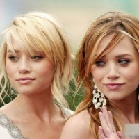 Mary Kate and Ashley Olsen Messy Hair with Wispy Bangs
