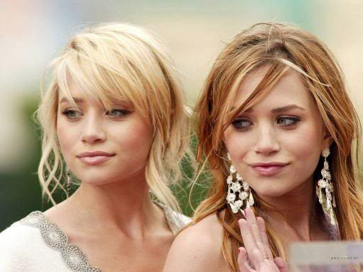 meagan good short hairstyle : Mary Kate and Ashley Olsen Messy Hair with Wispy Bangs