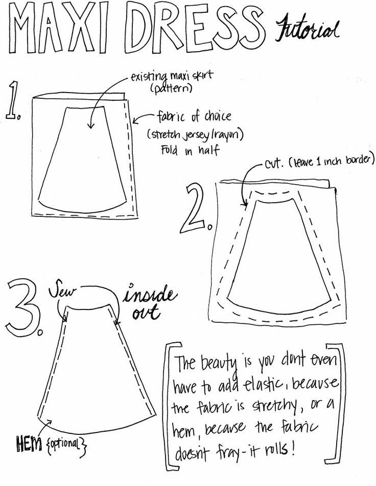 10 Pretty Maxi Skirts to Sew: DIY Maxi Skirt Tutorials - Pretty Designs