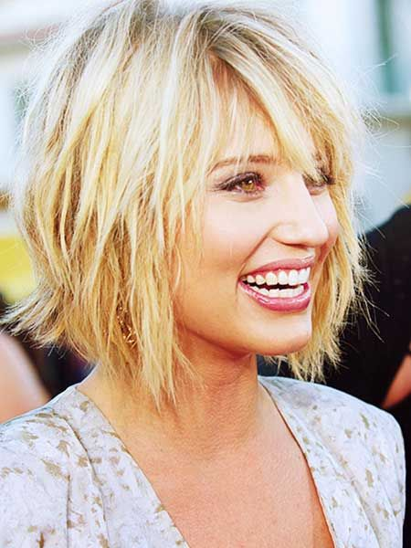 Messy Layered Long Bob Hairstyle Haircuts