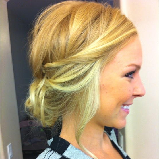 Messy Twisted Hairstyle for Short Hair