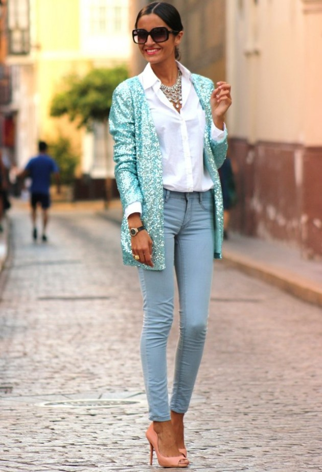 Mint Outfit Ideas - Mint Blazer