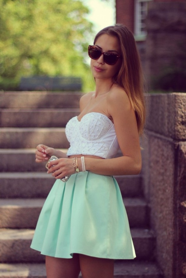 Mint Outfit Ideas - Mint Flare Skirt