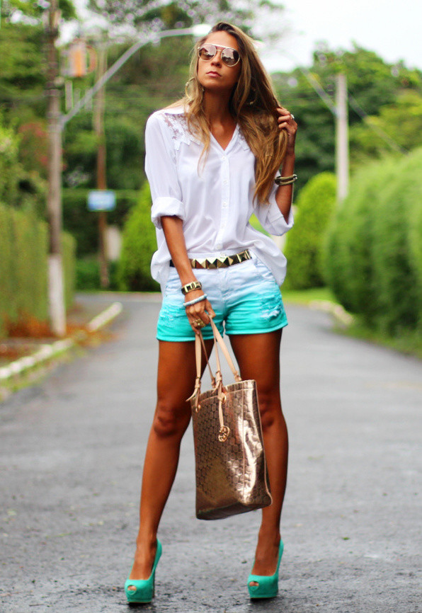 Mint Outfit Ideas - Mint Shorts