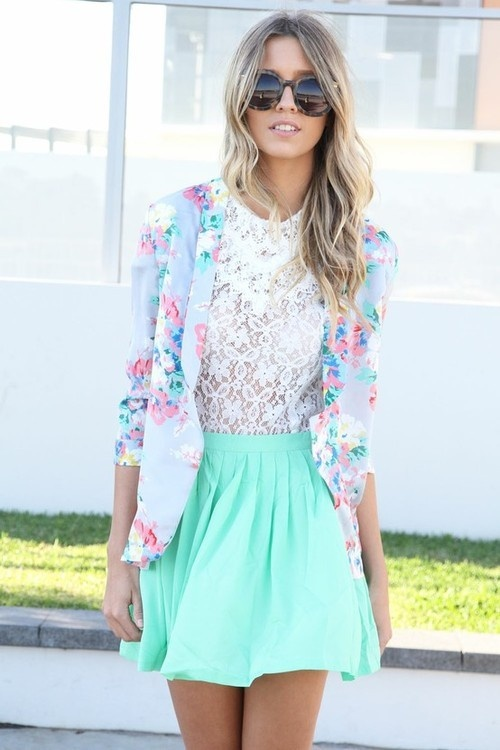 Mint Outfit Ideas - Mint Skirt