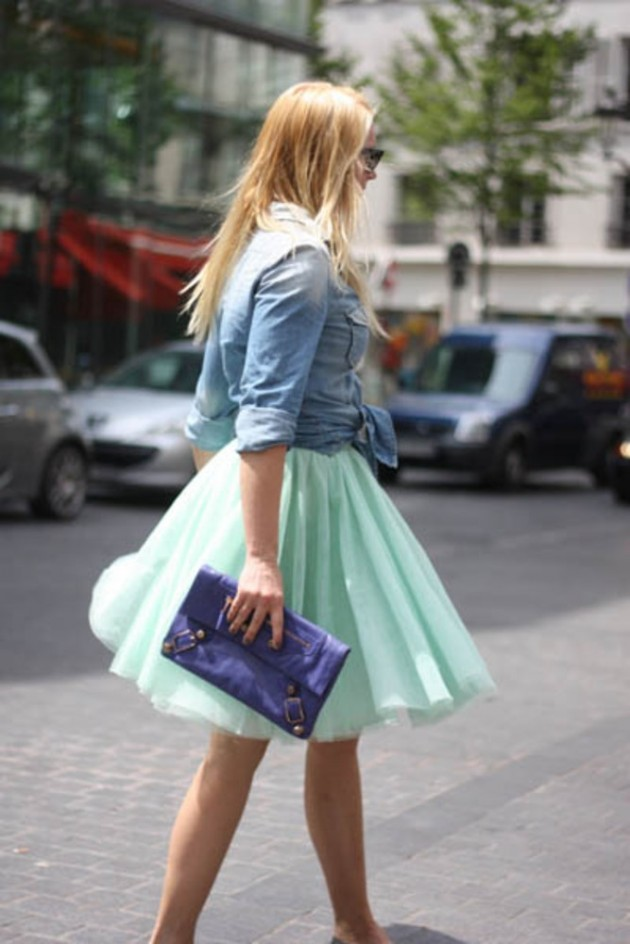 Mint Outfit Ideas - Mint Tulle Skirt