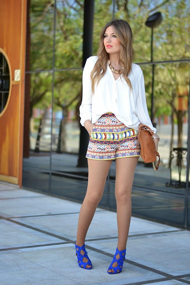 Multi-Colored Print Shorts