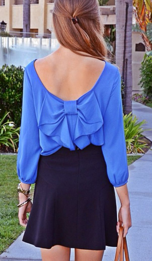 Navy Bow Outfit