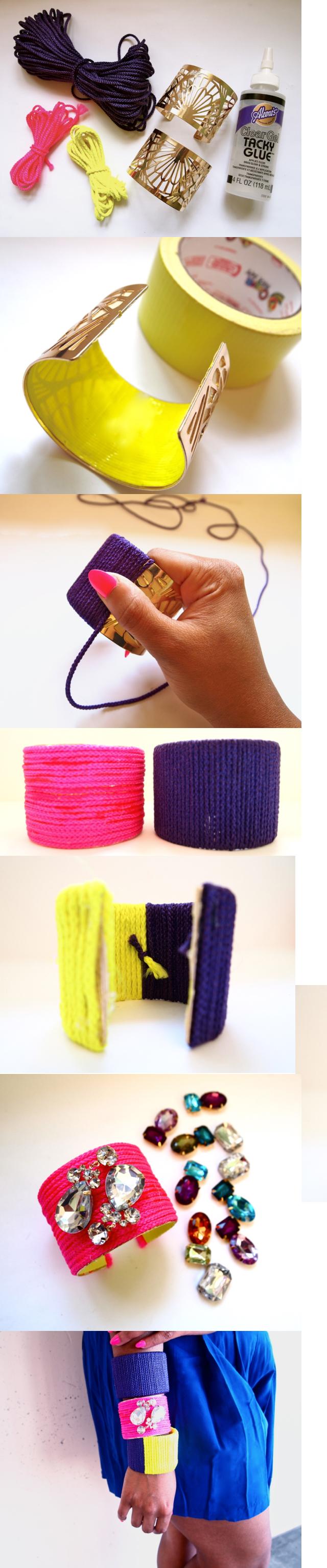 Neon Rope Cuff