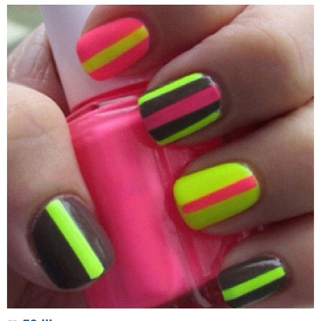 20 Color Block Nail Designs for Beginners - Pretty Designs