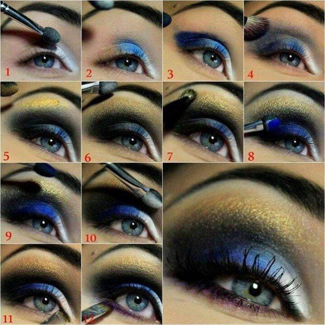 Night Blue Eye Makeup Tutorial