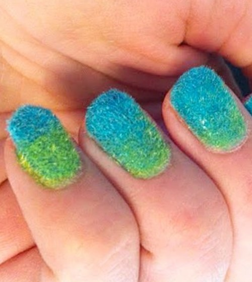 Ombre Velvet Nails