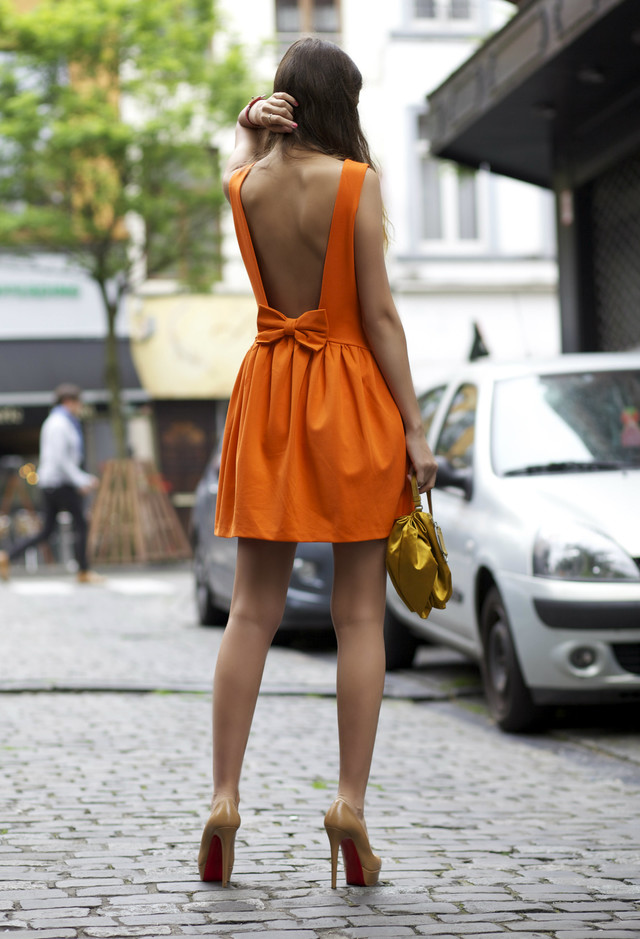 Orange Short Dresses for Spring 2014
