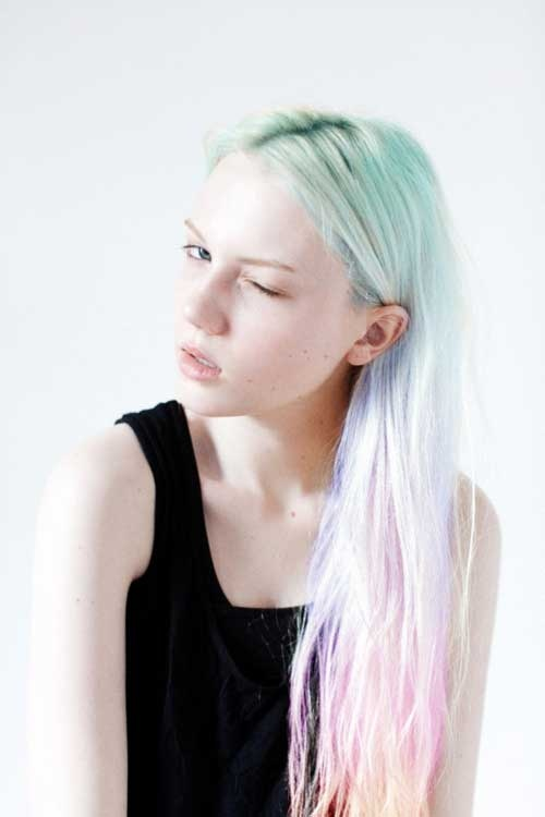 Pastel Rainbow Hair Look