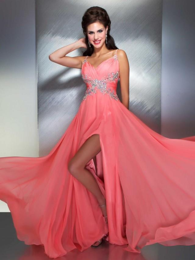 Peachy Prom Dress by Mac Duggal