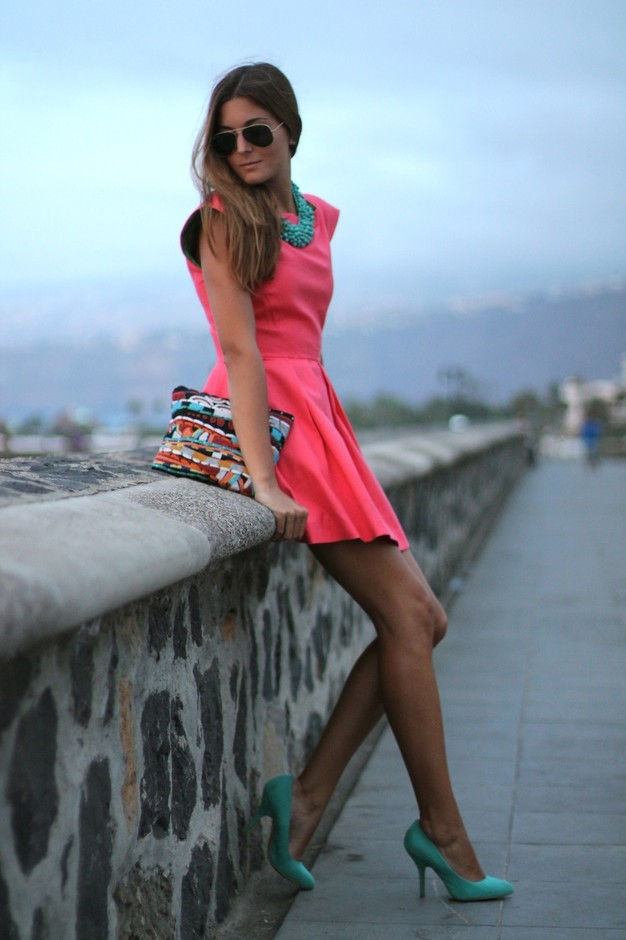 Peachy Short Dresses for Spring 2014