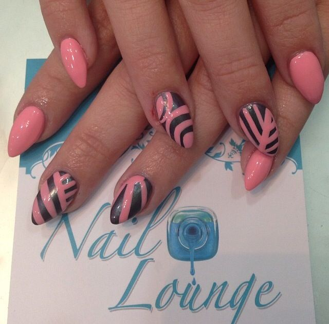 Pink Stiletto Nails
