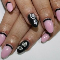 Pink and Black Nails for Summer Nail Designs