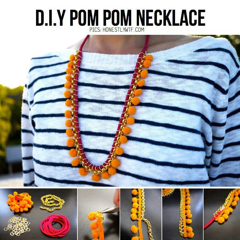 Pom Pom DIY Necklace