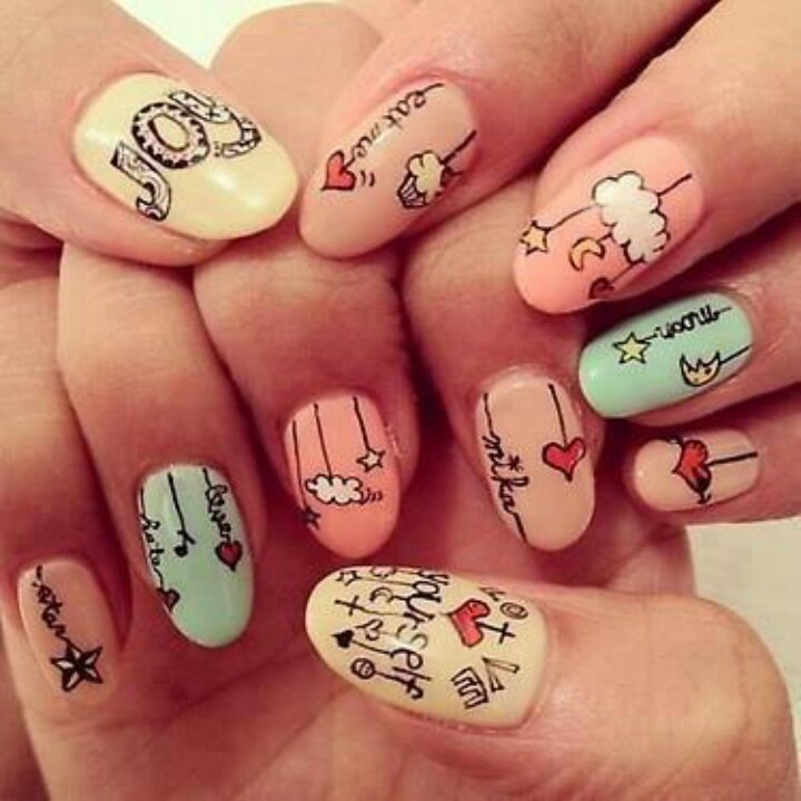 Pretty Nails - Nails To Try: Cartoon Nail Ideas - Pretty Designs
