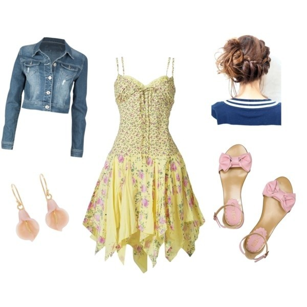 Pretty Pastel Dress Outfit Idea for Summer