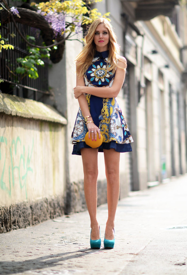 Printed Short Dresses for Spring 2014