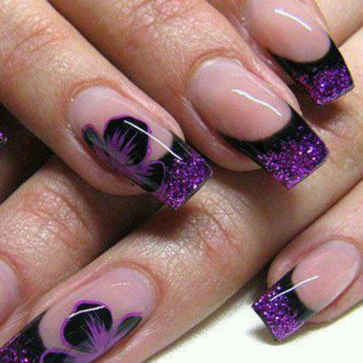 Purple flowers green toes nail art designs pinterest - Playful Nail Designs For The Week Pretty Designs