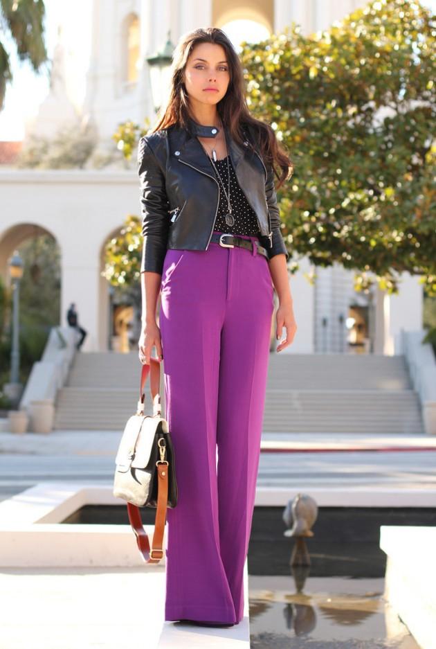 Purple Palazzo Pants