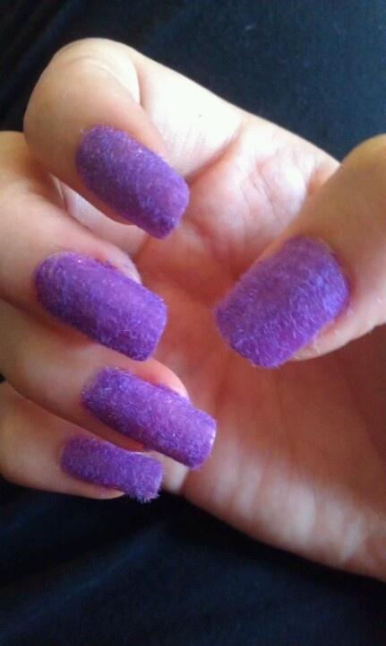 Purple Velvet Nails