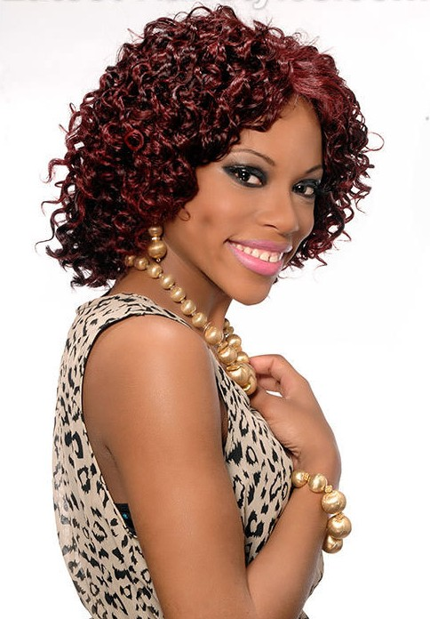 Crochet Braids Red Hair : Crochet Braid Bob Hairstyle With Kanekalon Hair Pictures