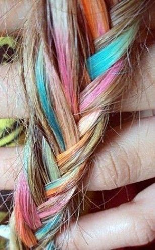 Rainbow Braids for Young Girls