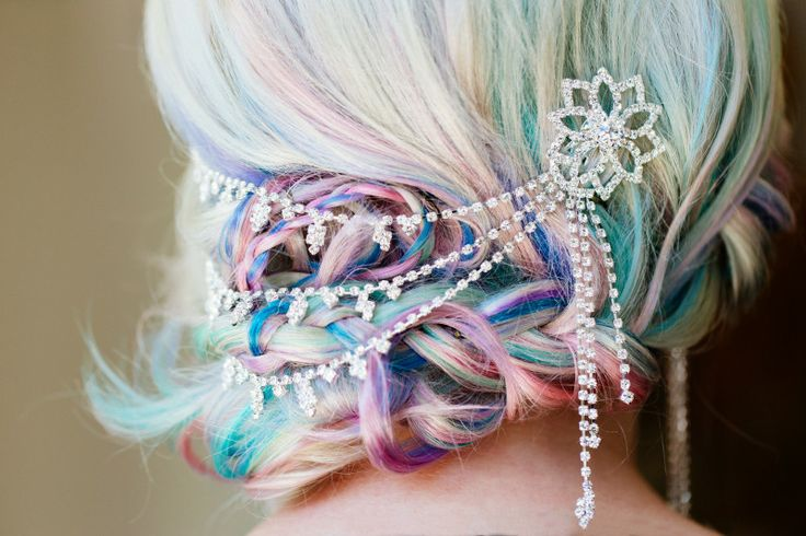 Rainbow Updo Hairstyle