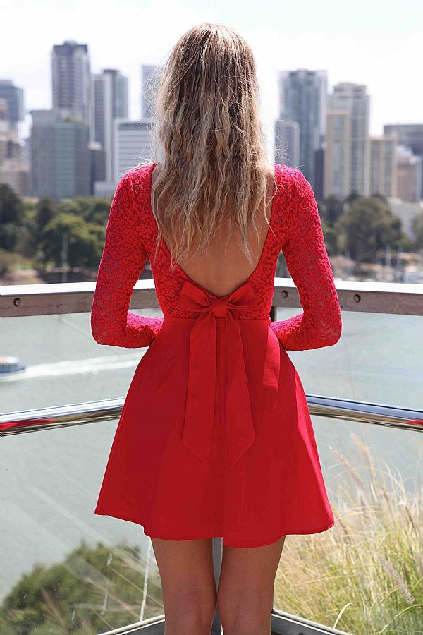 Red Dress with a Bow