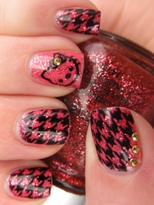 Red and Black Nails