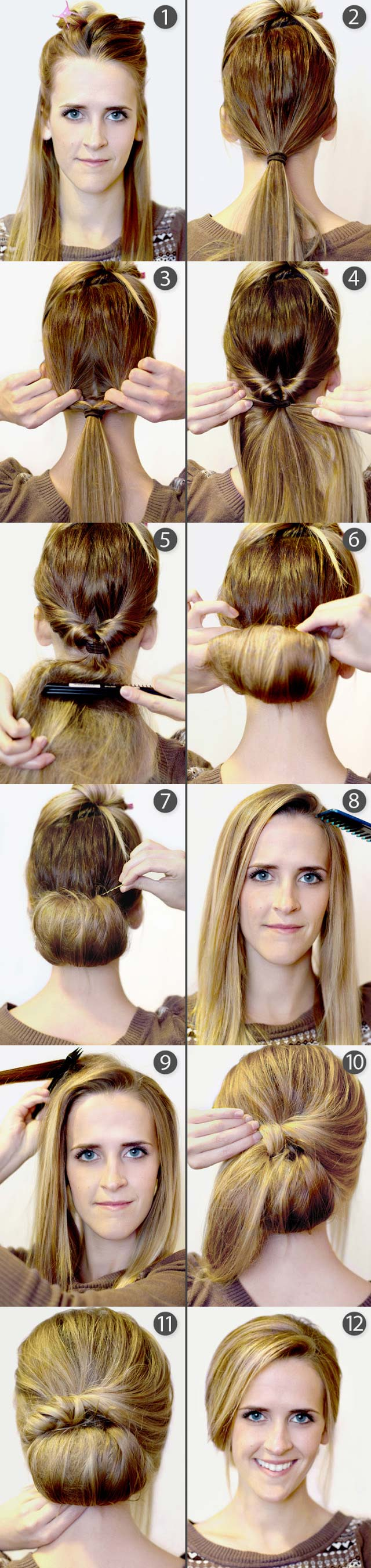 Hairstyles For Short Hair Diy : Pretty DIY Hairstyles With Step-by-Step Tutorials - Pretty Designs