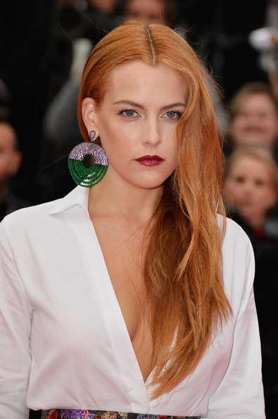 Riley Keough Long Center Parted Hairstyle