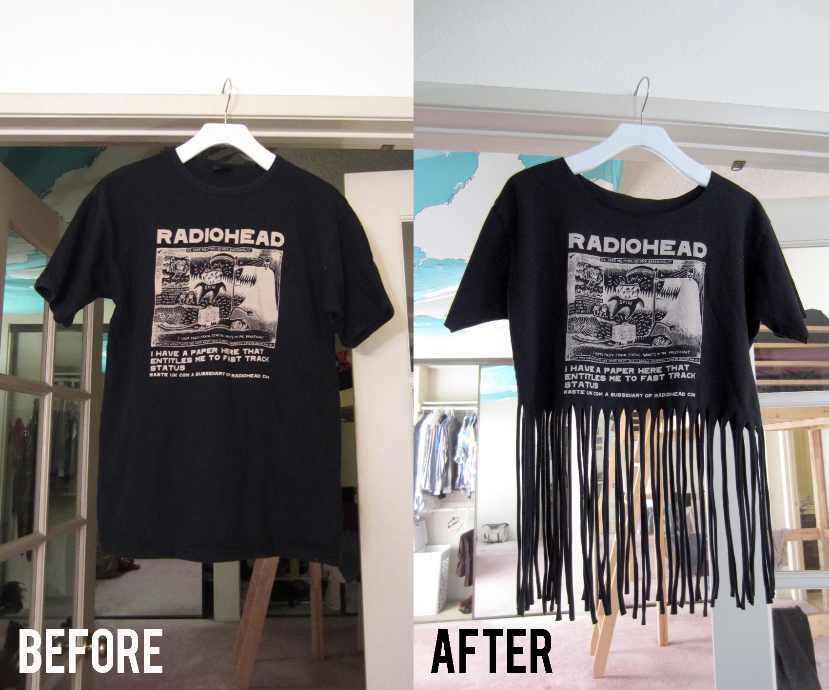 Diy Projects To Try Make Your Own Fringe T Shirt Pretty